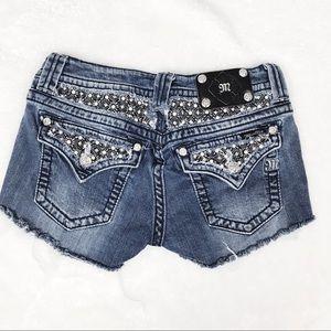 Miss Me embellished denim cutoff shorts